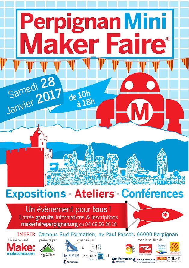A la Une - Perpignan Mini Maker Faire samedi 28 janvier 2017 - WWW.SUIVER.EU