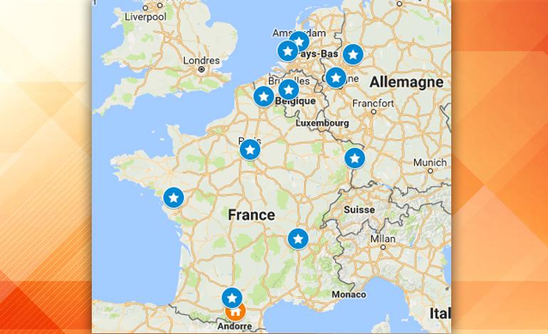 Première épopée Européenne avec l'équipe de SUIVER.EU pour le lancement du SUIVER© - France, Allemagne, Pays-Bas, Belgique.