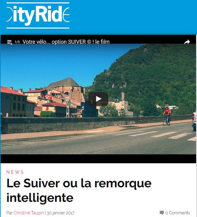 Le SUIVER ou la remorque intelligente Par Christine Taupin | 30 janvier 2017 - CityRide