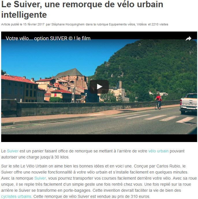 Le Vélo Urbain -  Article publié le 15 février 2017 par Stéphane Hocquinghem