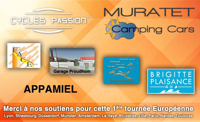 Merci à nos soutiens pour cette 1ère tournée Européenne  Lyon, Strasbourg, Dûsseldorf, Münster, Amsterdam, La Haye, Bruxelles, Lille, Paris, Nantes, Toulouse